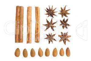 cinnamon, star anise and almond