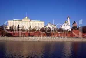 Kremlin red walls and palace