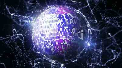 Earth Disco Ball in Particle 10 - HD1080