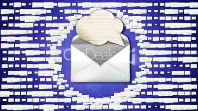 Speech Balloon and Mail Concept 3 - HD1080
