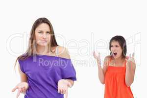 Teenager wondering why her friend is upset