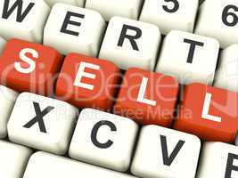 Sell Computer Keys Showing Sales And Business