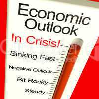 Economic Outlook In Crisis Monitor Showing Bankruptcy And Depres