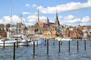 Stadtansicht von Flensburg, Deutschland