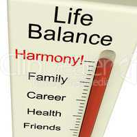 Life Balance Harmony Meter Shows Lifestyle And Job Desires