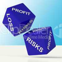 Profit Loss And Risks Dice Showing Market Risk
