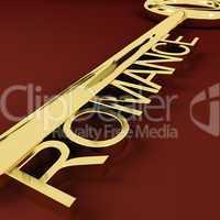 Romance Key Representing Love And Feelings
