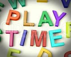 Play Time Written In Kids Letters