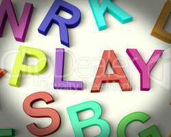 Play Written In Plastic Kids Letters
