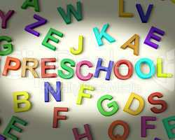Preschool Written In Plastic Kids Letters