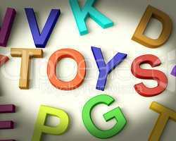Toys Written In Plastic Kids Letters