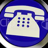 Telephone Icon Or Button As Symbol For Calling Or Phone Call