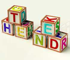 Kids Blocks Spelling The End As Symbol for Conclusion And Closin