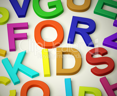 Letters Spelling For Kids As Symbol for Childhood And Children