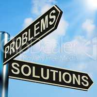 Problems Or Solutions Directions On A Signpost