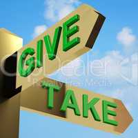 Give Or Take Directions On A Signpost