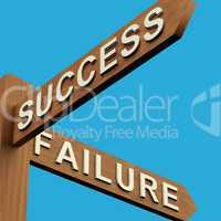 Success Or Failure Directions On A Signpost