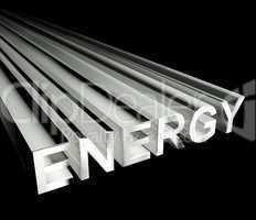 Energy Text In White As Symbol For Electricity And Strength