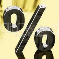 Silver Percentage Sign Representing Finance And Interest