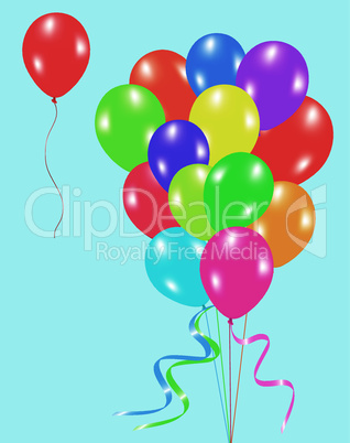 vector colorful balloons