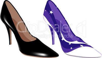 vector high heel shoes