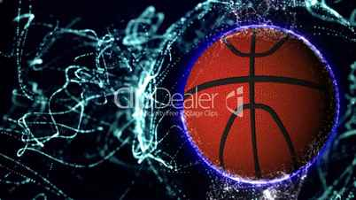 Basket Ball in Particle 1 - HD1080