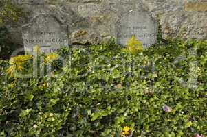 France, Vincent Van Gogh tomb in Auvers sur Oise