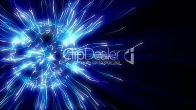 Abstract blue plasma sphere