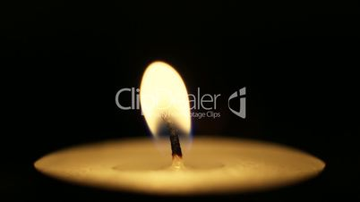 Closeup of one candle