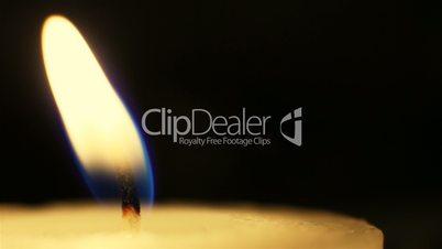 Candle flame, macro shot