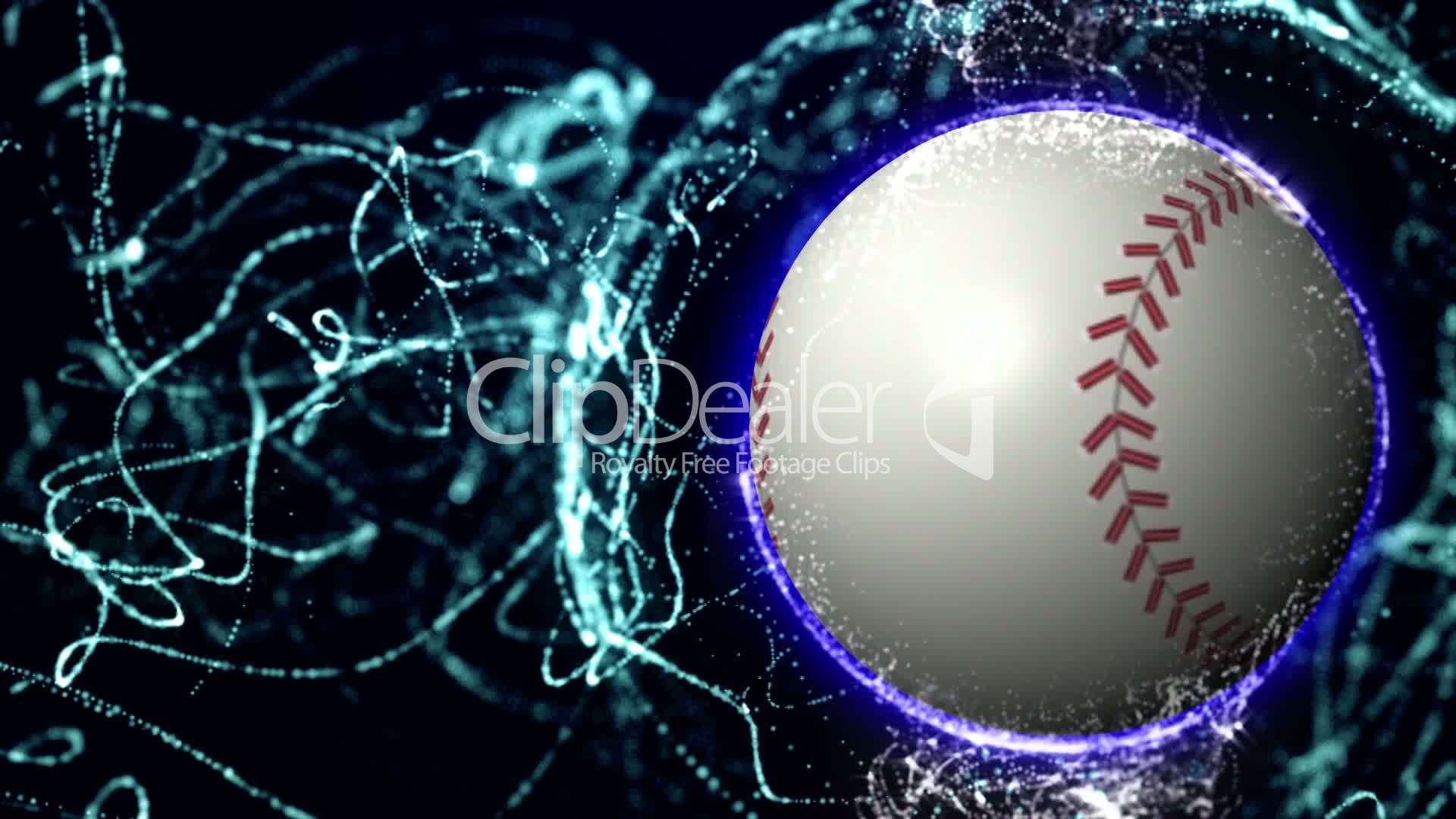 Baseball Ball In Particle 5 Hd1080 Royalty Free Video