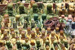 Multi-color pottery