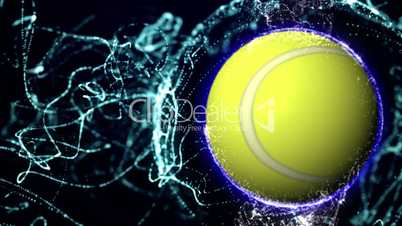 Tennis Ball in Particle 8 - HD1080
