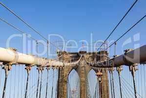 Detail of suspension on Brooklyn Bridge