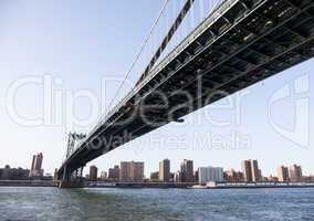 Manhattan Bridge towards midtown New York