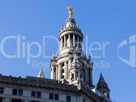 Detail of statue on Manhattan Municipal building