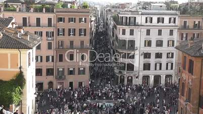 Spanish Steps, Rome, Time Lapse - HD1080