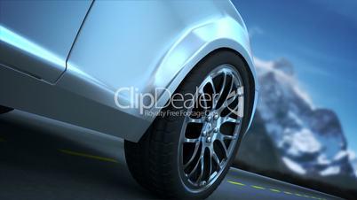 Wheel close-up loopable
