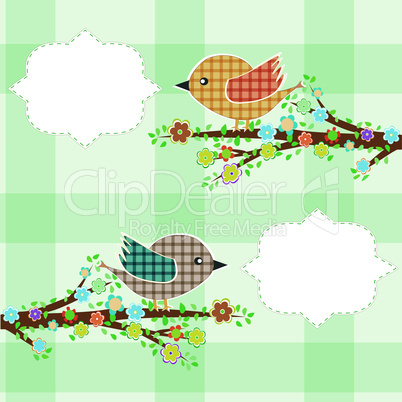 A bird speaking with a speech bubble. vector