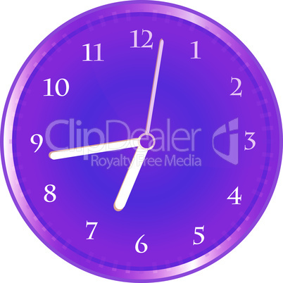 wall clock isolated on white. vector