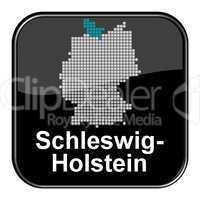 Glossy Button schwarz - Bundesland Schleswig-Holstein