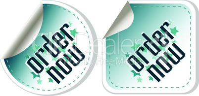 Order now stickers label set
