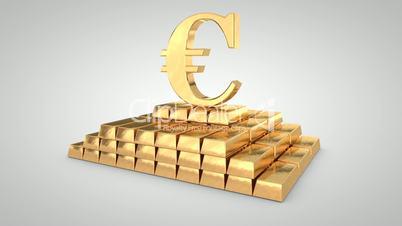 Euro symbol crashes