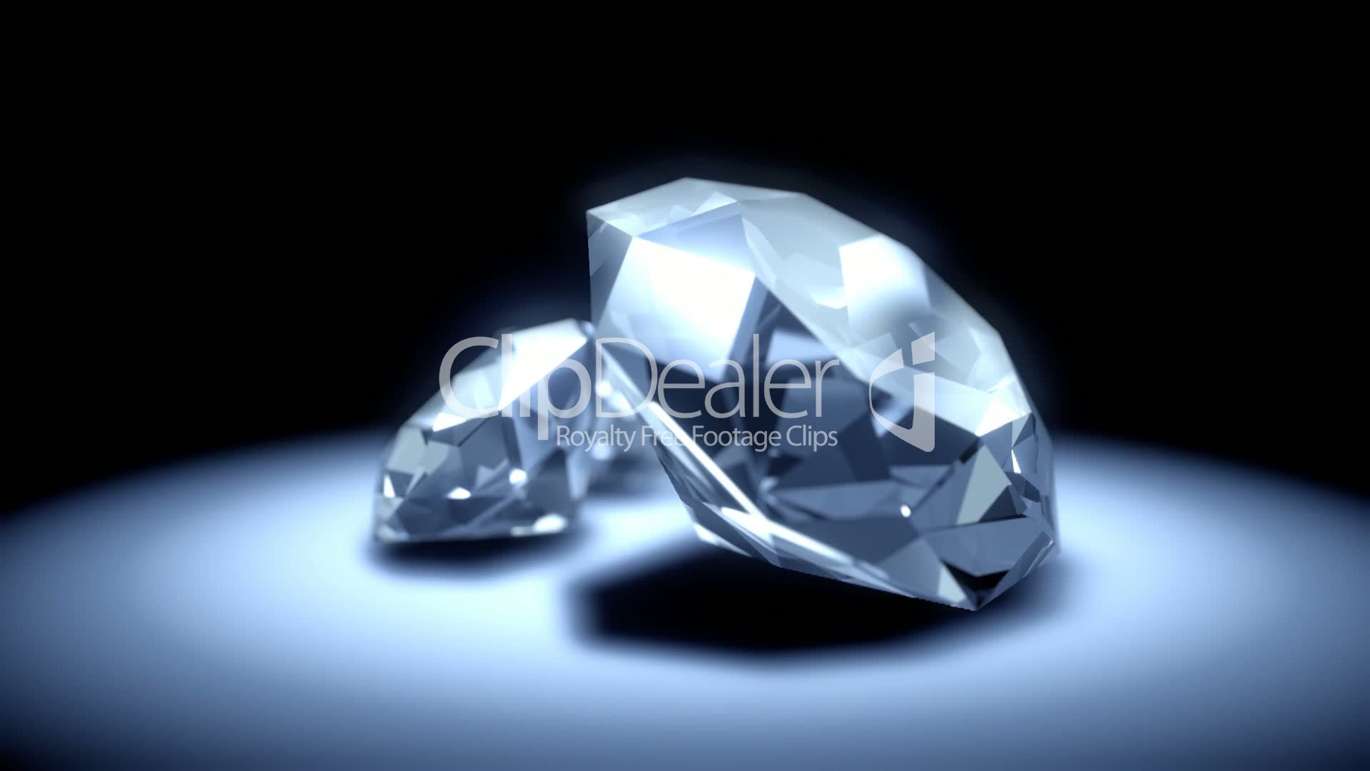 free video royalty media footage slowly diamond and falling stock diamonds