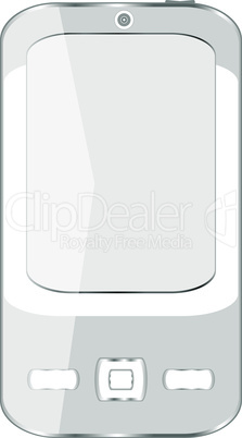 vector cell smart mobile smart phone isolated on white