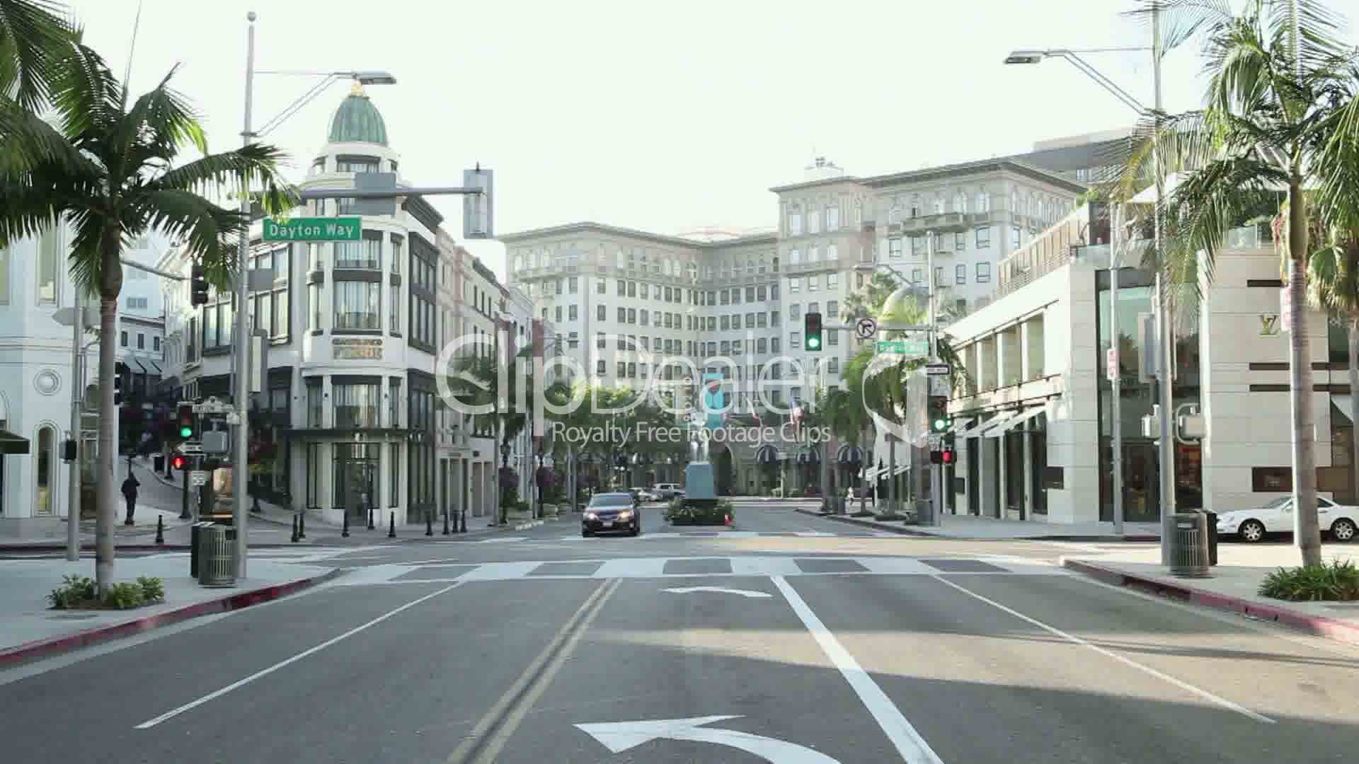 Rodeo Drive Californien USA Royalty Free Video And Stock Footage