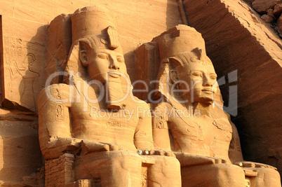 Ramses II statues at Abu Simbel in Egypt