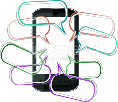 Modern mobile smart phone. Sending and Receiving SMS Messages