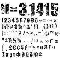 grunge number and symbol - 2