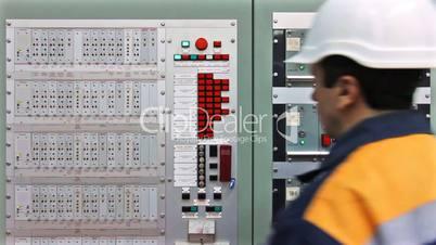 Engineer Check Fire Panel Closeup